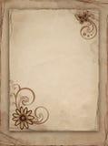 gammalt papper för blomma Arkivfoto