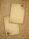 gammalt papper för blomma Arkivfoton
