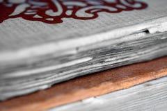 gammalt papper för bok Arkivbild