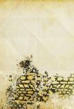 gammalt papper för grunge Fotografering för Bildbyråer