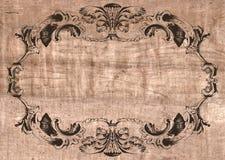 gammalt papper för kanfasram Arkivfoto