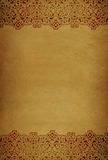 gammalt papper för kantdesign Arkivfoton
