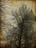 gammalt papper för konststad Royaltyfri Bild