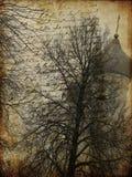 gammalt papper för konststadsgrunge Royaltyfri Bild