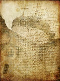 gammalt papper för konststadsgrunge Arkivbild