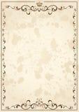 gammalt papper för kronagrunge stock illustrationer