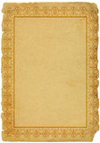 gammalt papper för ram arkivfoto