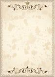 gammalt papper för ramgrunge vektor illustrationer