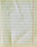 gammalt papper härskade textur Royaltyfri Fotografi