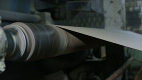 Gammalt papper maler transportören arkivfilmer