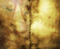 Gammalt papper med den Buddha framsidan Arkivfoto