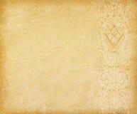 Gammalt papper med den orientaliska prydnaden. Fotografering för Bildbyråer