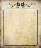 Gammalt papper med etiketttappning Royaltyfria Bilder