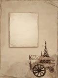 gammalt papper skissar Arkivfoto