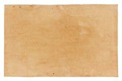 Gammalt papper som isoleras på vit bakgrund, med den snabba banan Fotografering för Bildbyråer