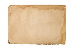 Gammalt pappers- ark Arkivbilder