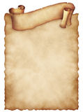 Gammalt pappers- ark med det lockiga banret tappning för textur för originellt papper för åldrig bakgrund gammal Royaltyfria Foton