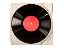 Gammalt pappers- fall f?r vinylrekord royaltyfri bild