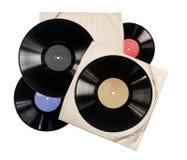 Gammalt pappers- fall f?r vinylrekord fotografering för bildbyråer