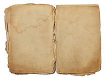 Gammalt pappers- täcker Arkivfoto