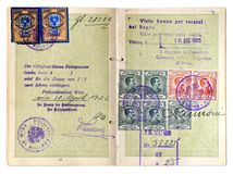 gammalt pass Arkivbilder