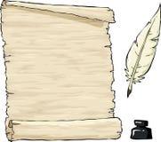 Gammalt pergament Royaltyfri Bild