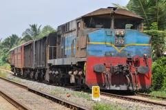 Gammalt pettidrev i Sri Lanka Arkivbild