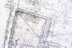 Gammalt plan av staden Arkivfoton
