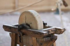 gammalt polskt hjul fotografering för bildbyråer