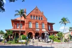 Gammalt posta - kontoret och Customshouse, Key West fotografering för bildbyråer