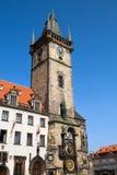 gammalt prague för stadsklockakorridor torn Arkivbild