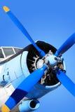 Gammalt Propeller-drivande flygplan Royaltyfria Foton