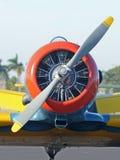 Gammalt propellerflygplan Royaltyfri Foto