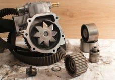 gammalt pumpvatten för bil Fotografering för Bildbyråer