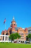 Gammalt rött museum av Dallas County History & kultur arkivfoto