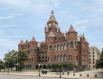 Gammalt rött museum, Dallas, Texas Royaltyfria Foton