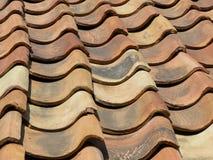 gammalt rött tak för tegelsten Royaltyfria Bilder
