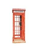 Gammalt rött telefonbås Royaltyfri Fotografi