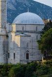 Gammalt radhus och fredKlocka torn Mostarski Zvonik Mira in royaltyfri foto