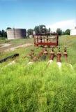 gammalt raffinaderi för olja Royaltyfri Fotografi