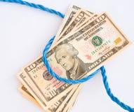 gammalt rep för pengar Arkivbilder