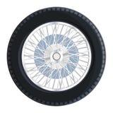 Gammalt retro hjul med eker Royaltyfri Fotografi