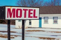 Gammalt Retro motell Royaltyfri Foto