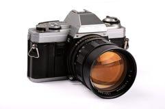 Gammalt retro, tappningkamera som isoleras över vit med att fästa ihop PA Arkivfoton