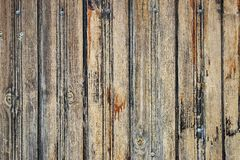 Gammalt ridit ut Wood staket royaltyfria bilder