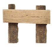 Gammalt ridit ut wood tecken Royaltyfria Foton