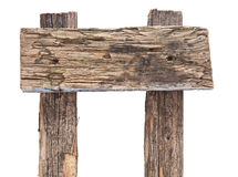 Gammalt ridit ut wood tecken Arkivbild