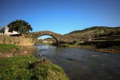 gammalt roman för bro royaltyfri bild