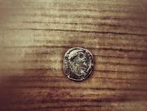 gammalt roman för mynt arkivbild