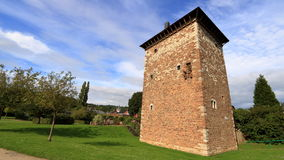Gammalt romerskt torn i Amay, Belgien Arkivfoton